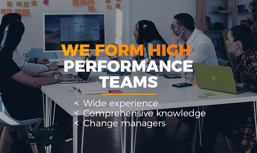 banner we form high performance teams linexperts